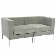 Vittorio Sofa W and Arms Unit in Gray