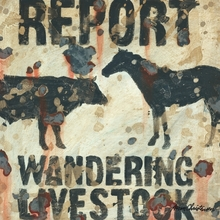 Wandering Livestock Canvas Wall Art