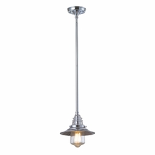 Warehouse Glass Pendant In Polished Chrome