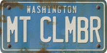 Washington Custom License Plate Art