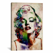 Watercolor Marilyn Monroe Canvas Wall Art