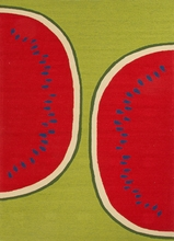 Watermelon Rug in Green