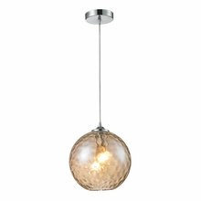 Watersphere Warm Pendant In Polished Chrome
