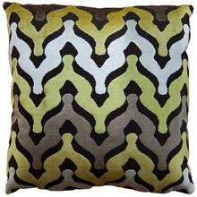 Waves Citron Throw Pillow