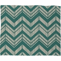 Weathered Chevron Fleece Throw Blanket
