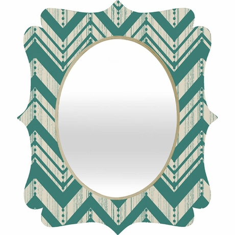 Weathered Chevron Quatrefoil Mirror