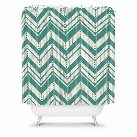 Weathered Chevron Shower Curtain