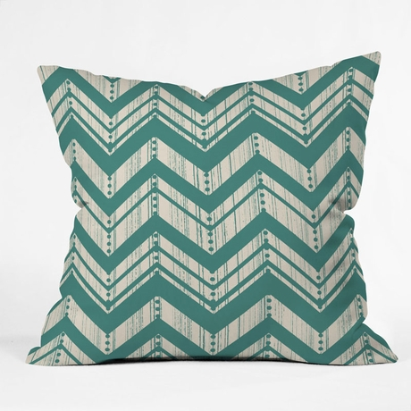 Weathered Chevron Throw Pillow