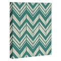 Weathered Chevron Wrapped Canvas Art