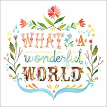 What A Wonderful World Poster Wall Decal