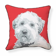 Wheaten Terrier Reversible Throw Pillow