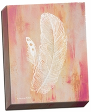 Whimsical Feathers I Canvas Wall Art