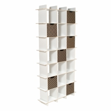 White 21 Cubby Tall Bookcase