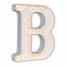 White 24 Inch Letter B Marquee Light