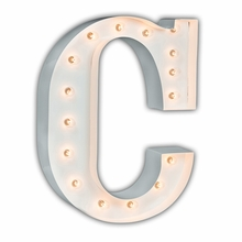 White 24 Inch Letter C Marquee Light
