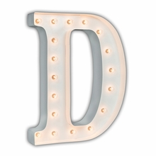White 24 Inch Letter D Marquee Light