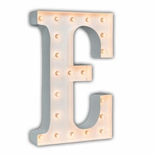 White 24 Inch Letter E Marquee Light
