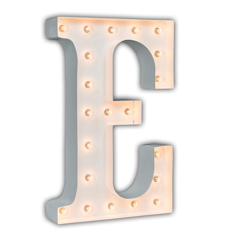 District17: White 24 Inch Letter E Marquee Light: Wall ...