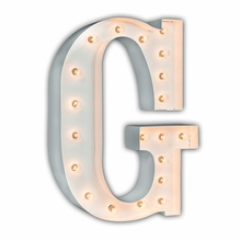 White 24 Inch Letter G Marquee Light