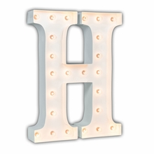 White 24 Inch Letter H Marquee Light
