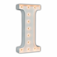 White 24 Inch Letter I Marquee Light