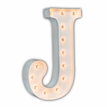White 24 Inch Letter J Marquee Light