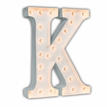 White 24 Inch Letter K Marquee Light