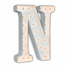 White 24 Inch Letter N Marquee Light
