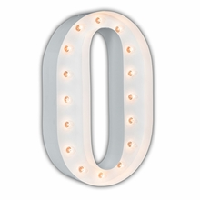 White 24 Inch Letter O Marquee Light