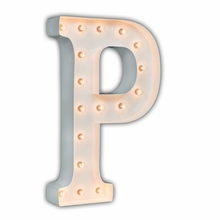 White 24 Inch Letter P Marquee Light