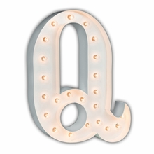 White 24 Inch Letter Q Marquee Light