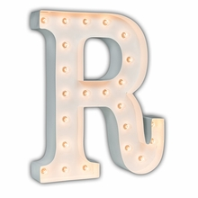 White 24 Inch Letter R Marquee Light