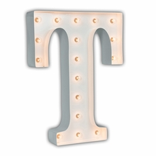 White 24 Inch Letter T Marquee Light