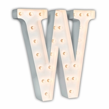 White 24 Inch Letter W Marquee Light