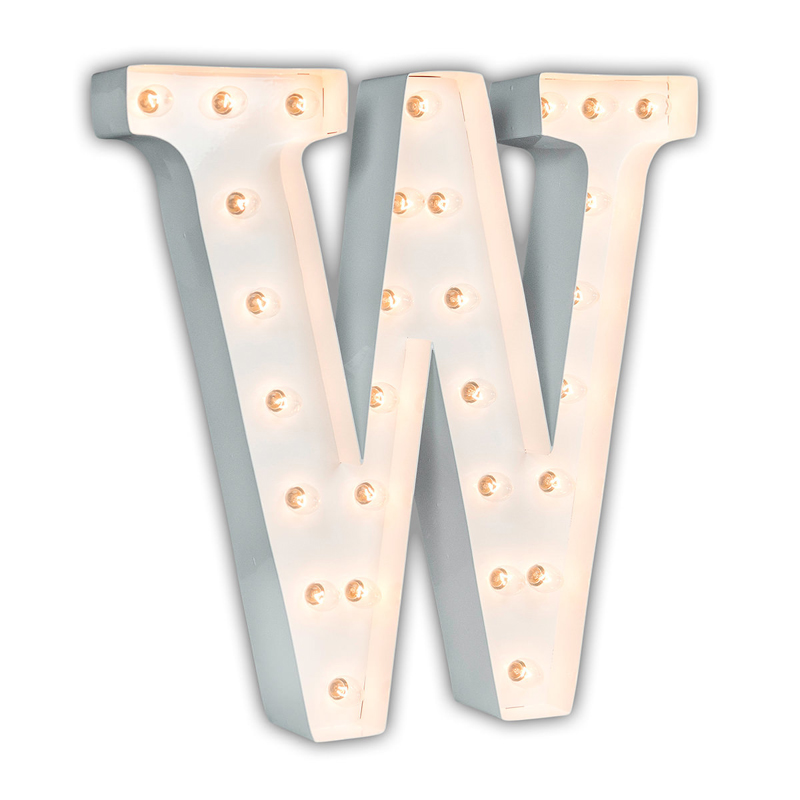 white 24 inch letter w marquee light - Marquee Letter Lights