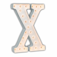 White 24 Inch Letter X Marquee Light