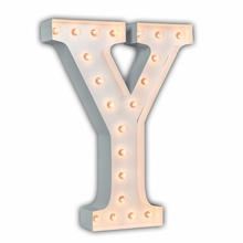 White 24 Inch Letter Y Marquee Light