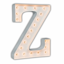 White 24 Inch Letter Z Marquee Light
