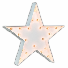 White 24 Inch Star Marquee Light