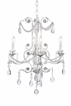 White 4-Arm Valentino Chandelier