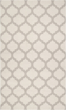 White and Oatmeal Trellis Frontier Rug