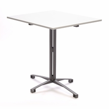 White and Storm Grey Cafe Table