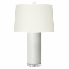 White Cleo Lamp Base