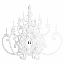 White Fancy Chandelier Mobile