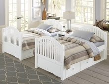 White Beach House Adair Twin Bed
