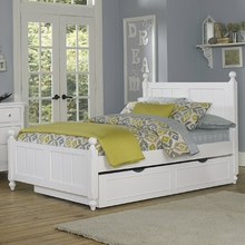 White Beach House Kacey Panel Bed