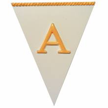 White Pennant Plaque