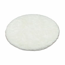 White Polar Bear Round Rug