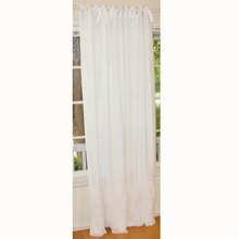 White Ruffle Window Panel Set of 2