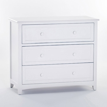 White Morgan 3 Drawer Chest